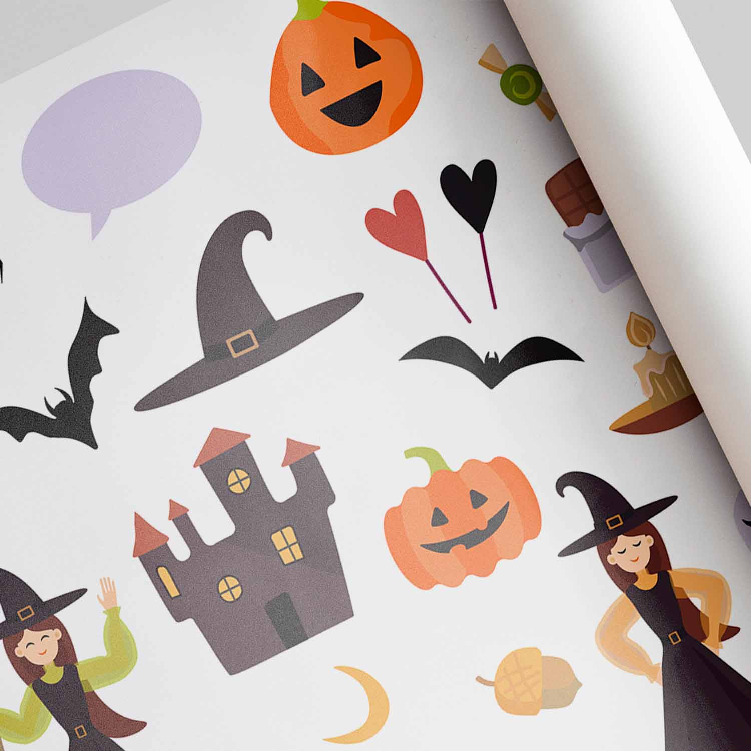 40 Happy Halloween Vector Illustrations preview image.