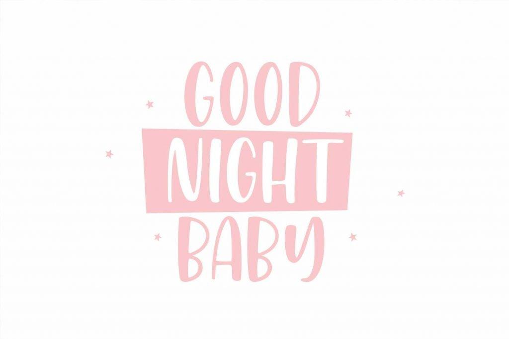 Honey Mints – A Handwritten Font Good Night Phrase Example.