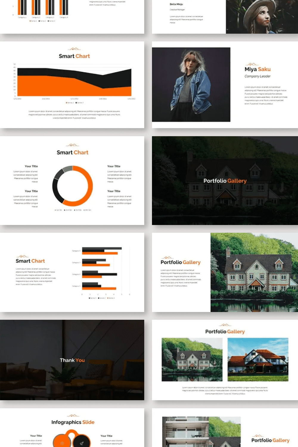 The template collection includes a variety of infographics and charts.
