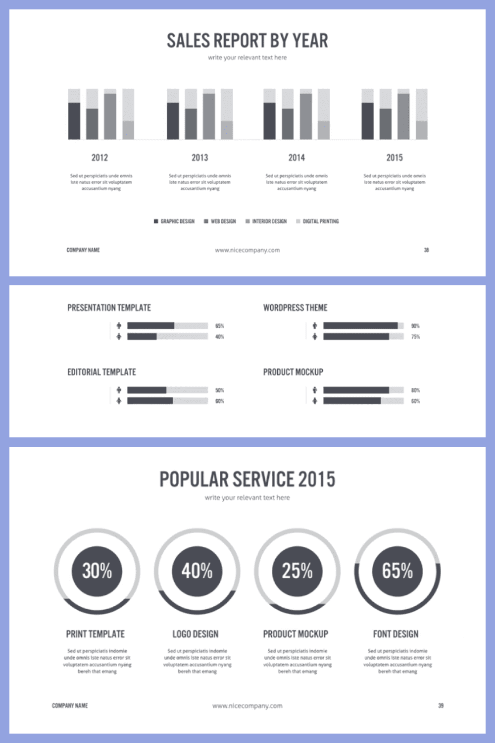 It's cool to create reports and presentations for top management with this template.