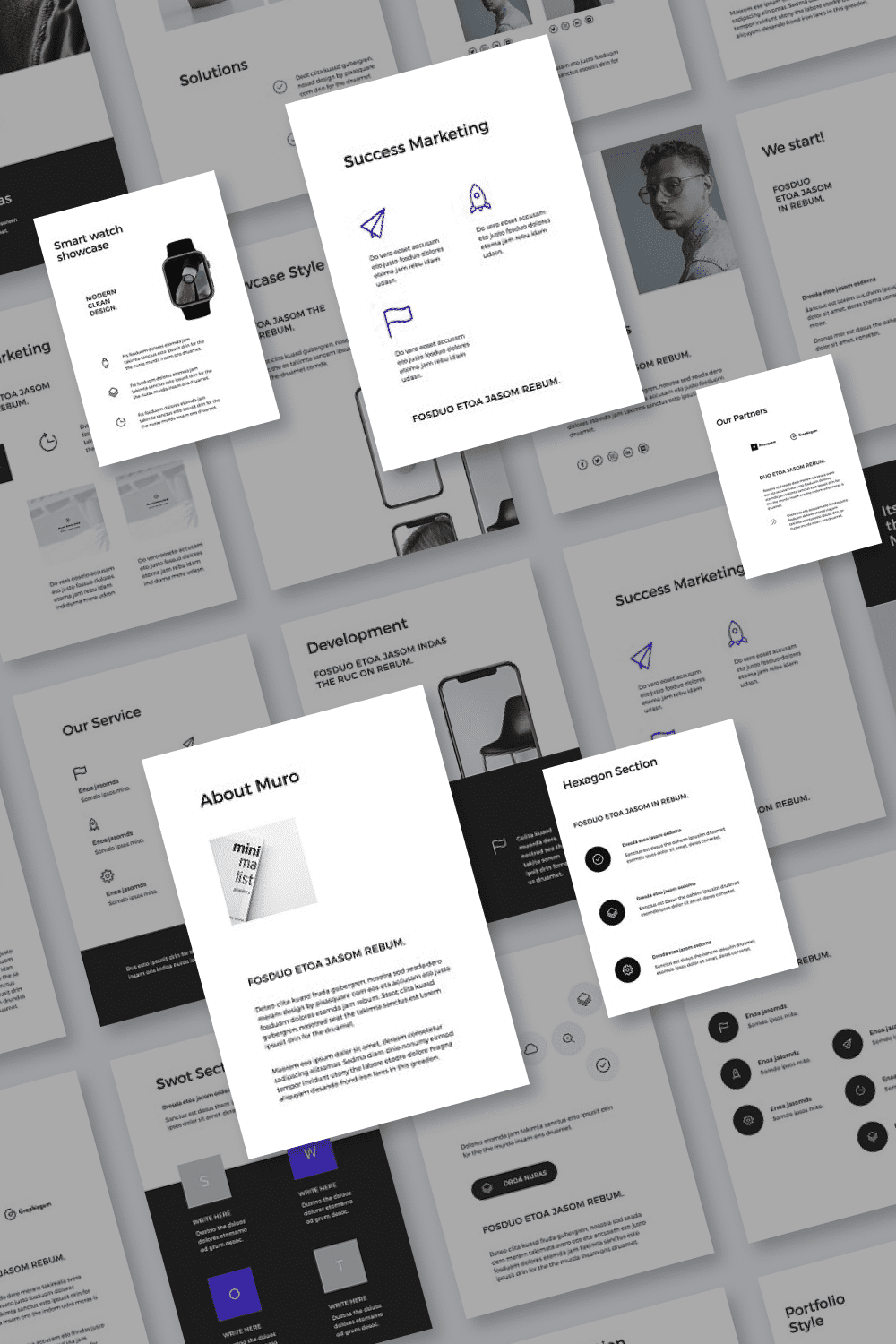 The template collection has a number of awesome icons, infographics and diagrams to make presentation easy.