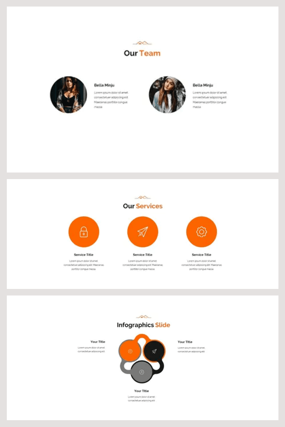 A very simple presentation of information, which makes a template for any audience.