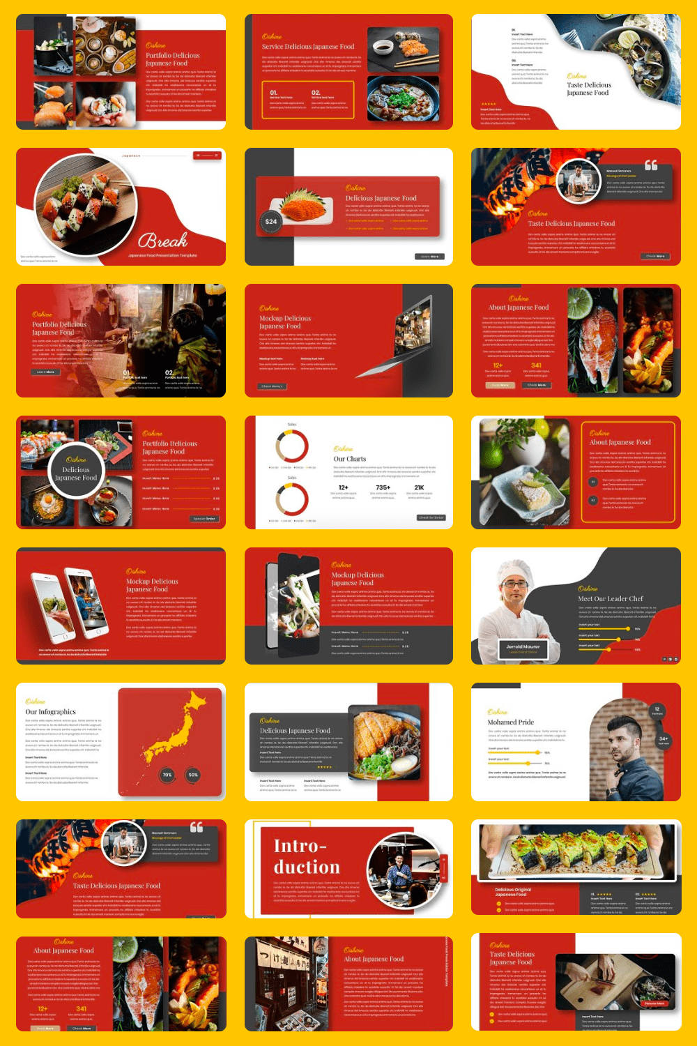 This is a great template that can convey all the delights of Japanese cuisine.