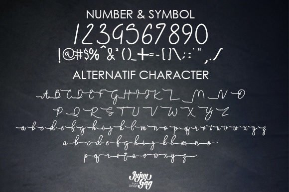 All styles of Attachment font.