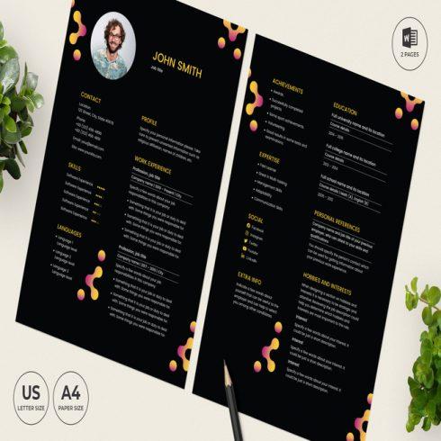 Bar Lounge CV Resume Template main cover.