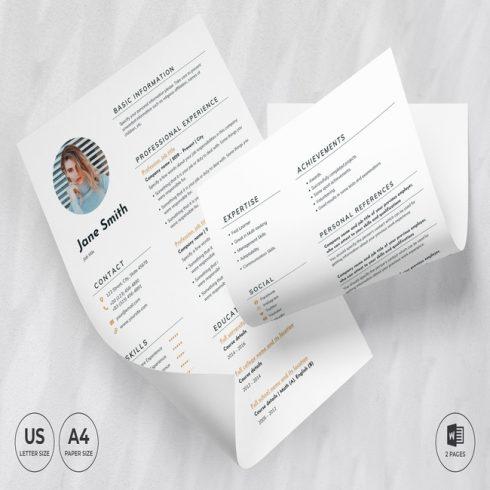 Boutique CV Resume Template main cover.