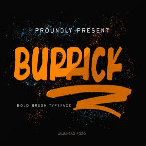 Burrick Fonts main cover.
