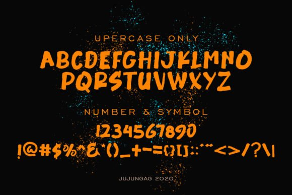 All styles of Burrick font.