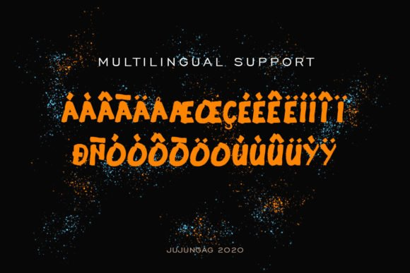 This font is multilingual.