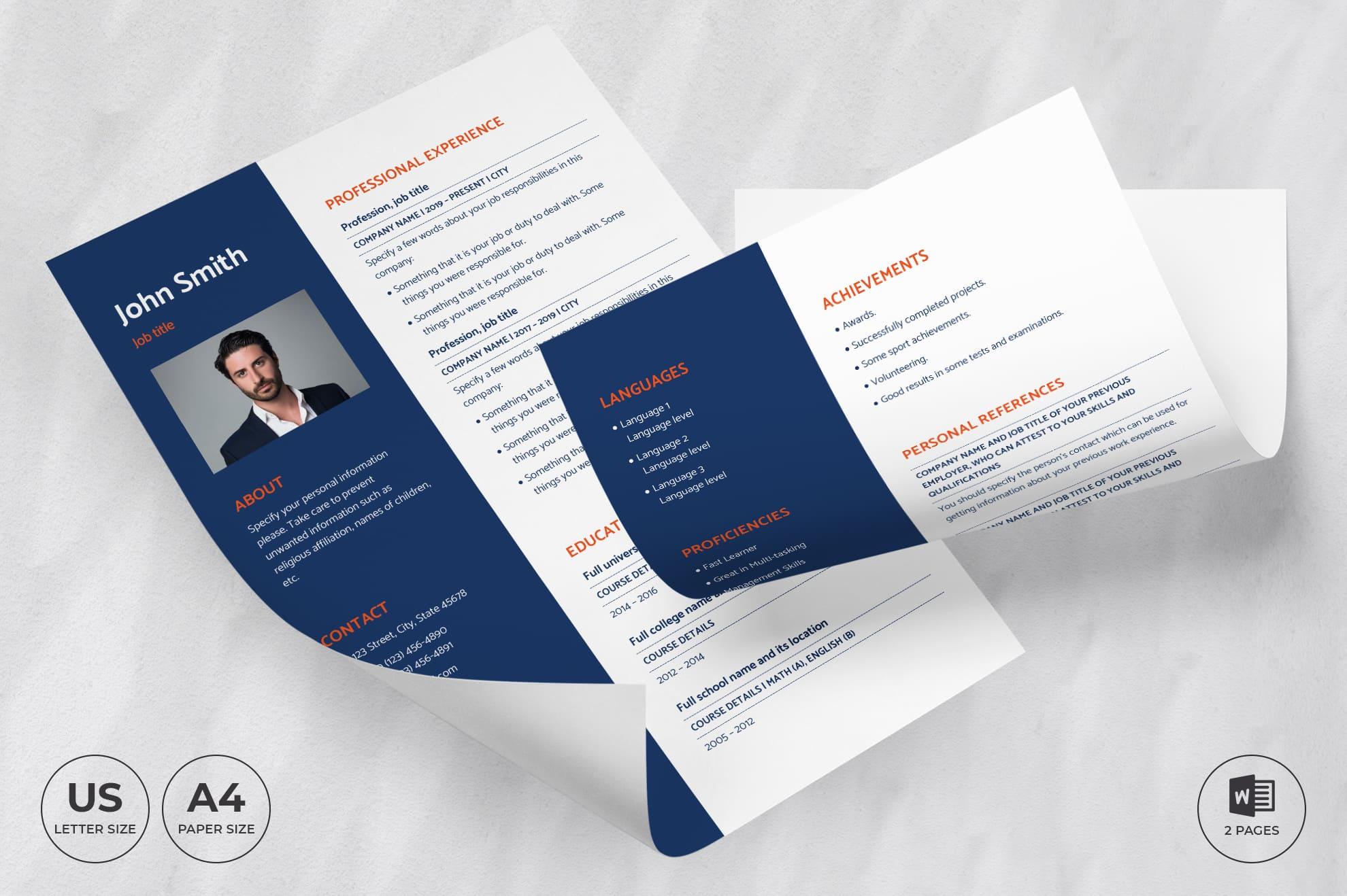 Business Coach CV Resume Template .