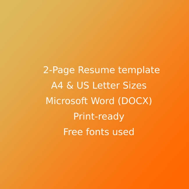 Carpenter CV Resume Template cover image.