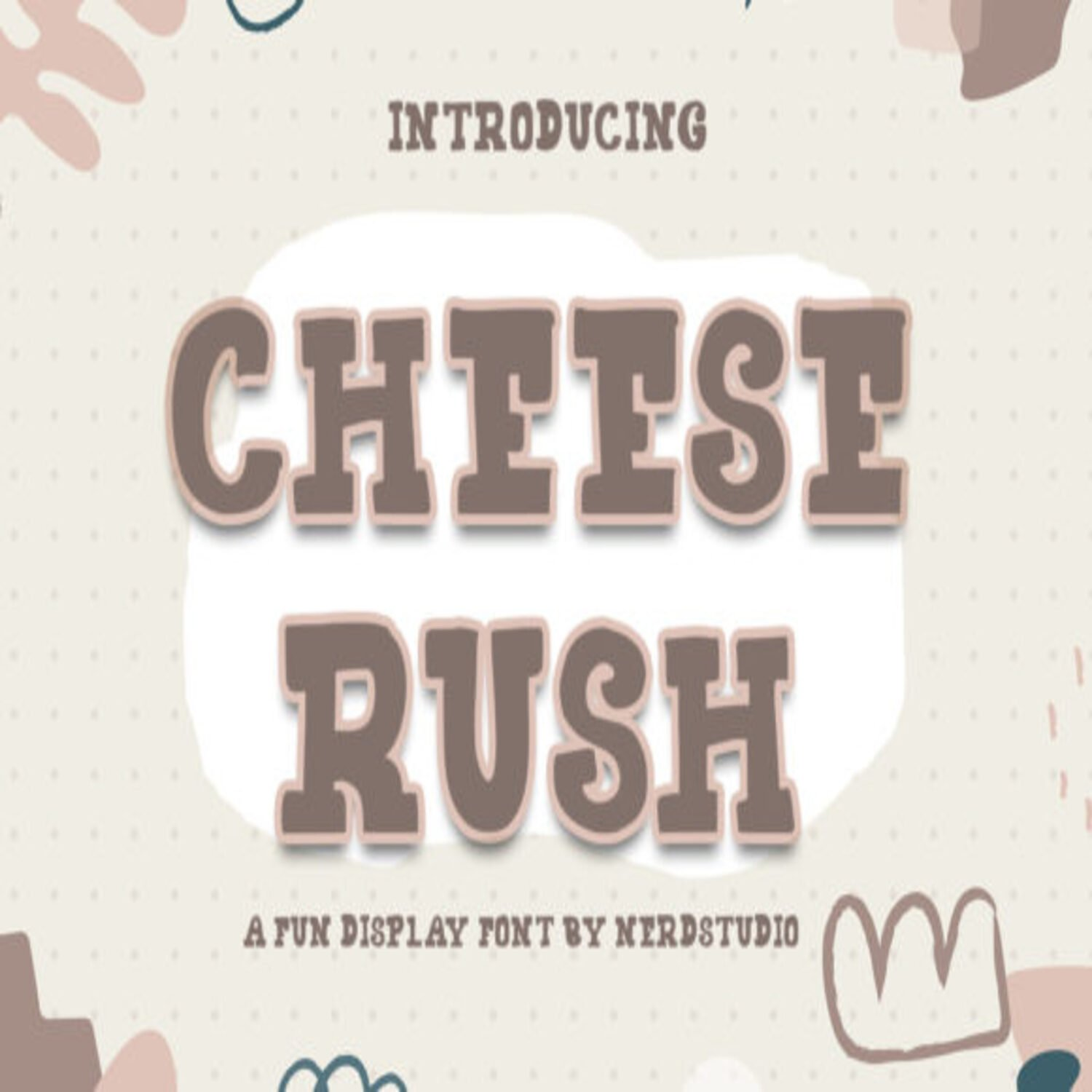 Cheese Rush Fonts main cover.