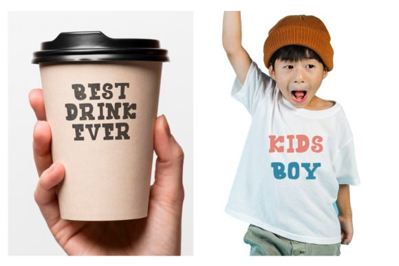 This is a street style font that looks great on roadside cafe cups.
