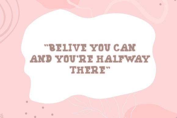 Delicate and cute background with soft color transitions and wise phrase.