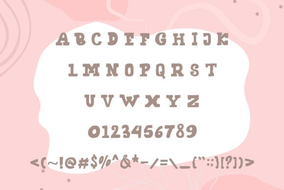 General view of cheese rush font.