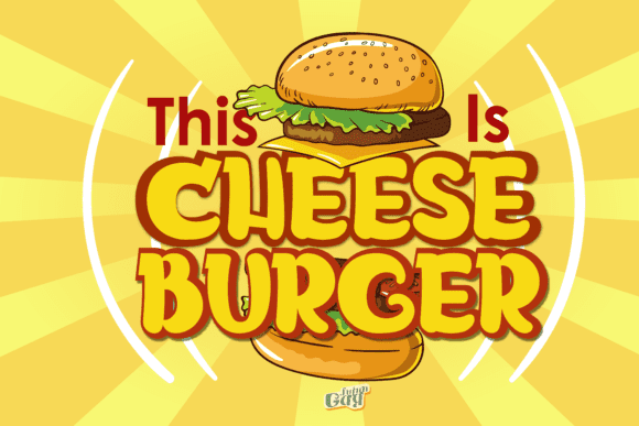 Bright illustration with a typeface that you want to eat.