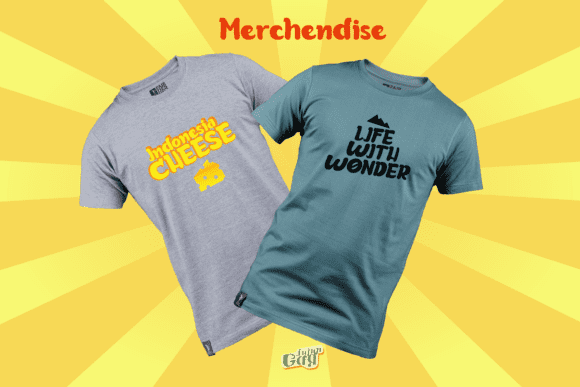 Two classic-cut T-shirts with this eye-catching font.