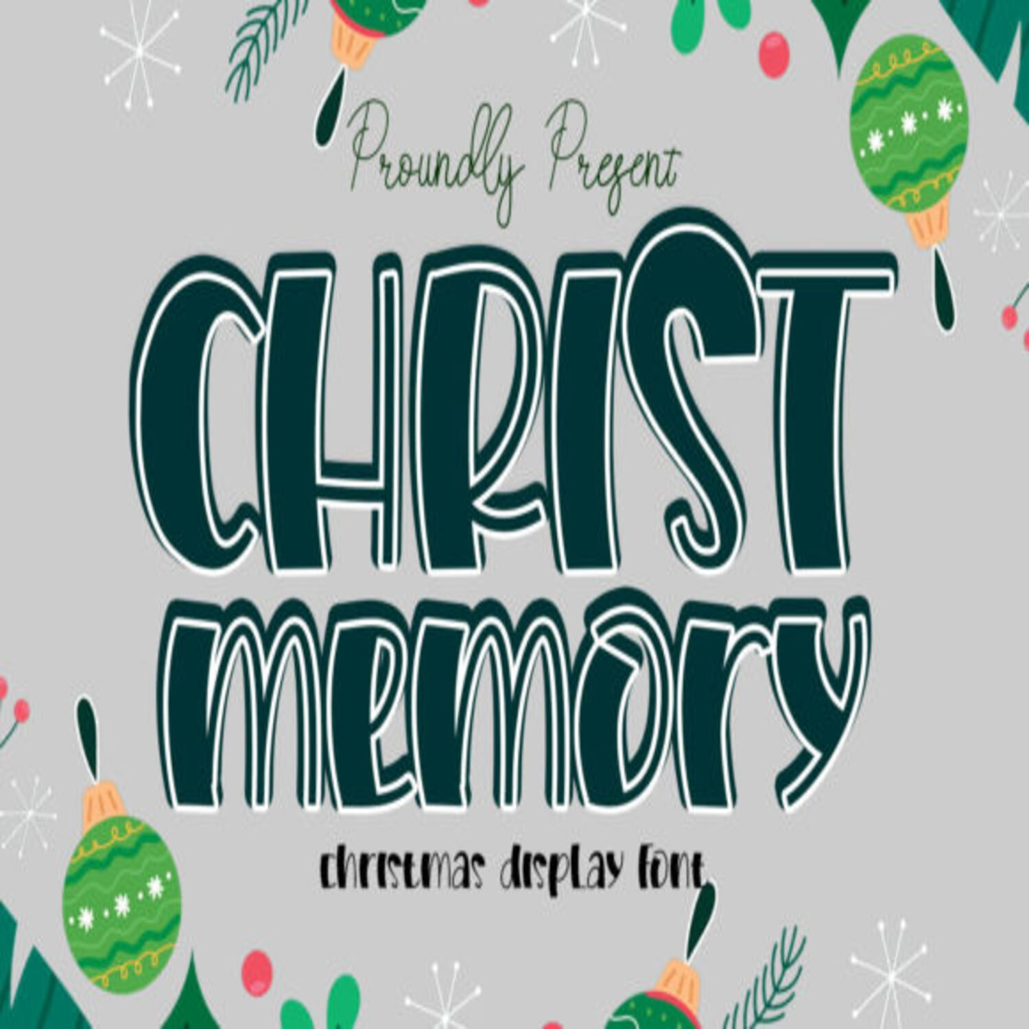 Christ Memory Fonts main cover.
