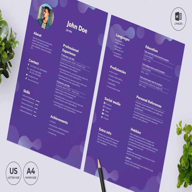 Cleaning Service CV Resume Template main cover.