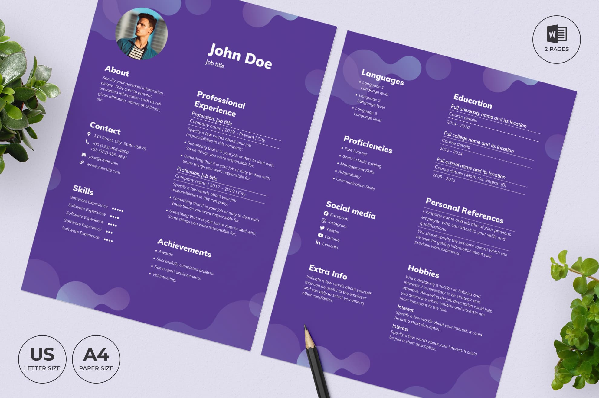 Cleaning Service CV Resume Template.