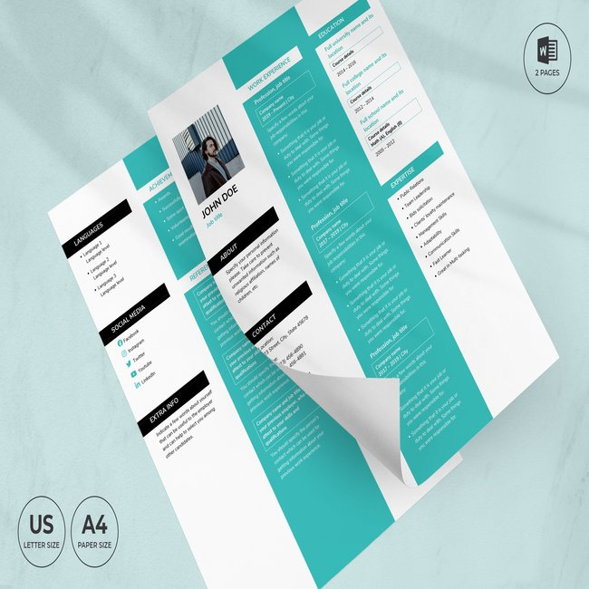 Creative Agency CV Resume Template main cover.