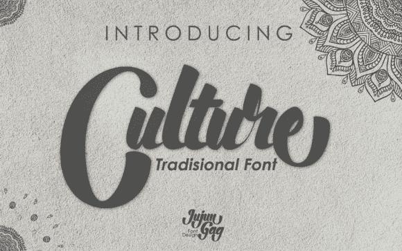 Vintage font in calm color.
