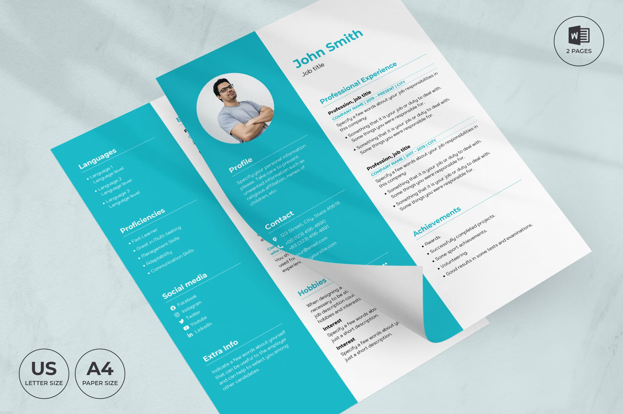 Dental Clinic CV Resume Template.