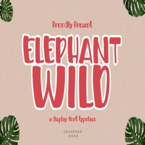 Elephant Wild Fonts main cover.