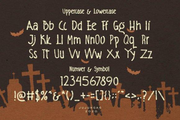 General view of eraser font.