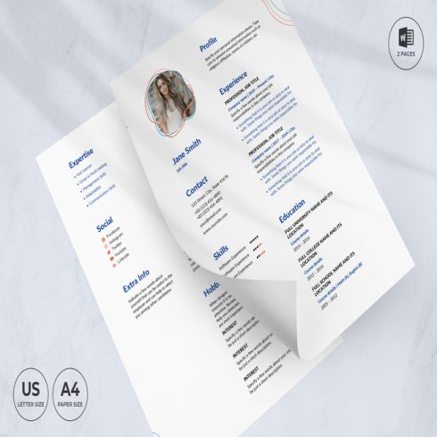 Event Planner CV Resume Template main cover.