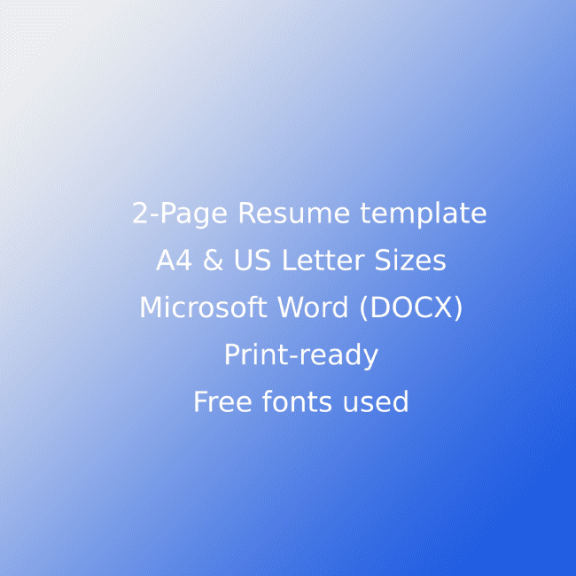 Event Planner CV Resume Template cover image.