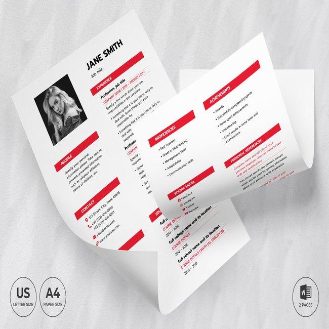 Fashion Designer CV Resume Template main cover.