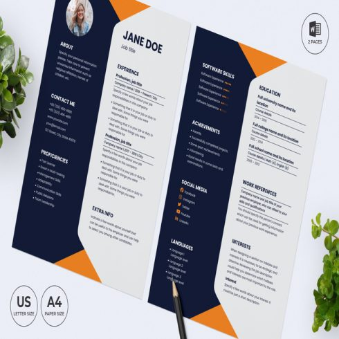Finance Consultant CV Resume Template main cover.