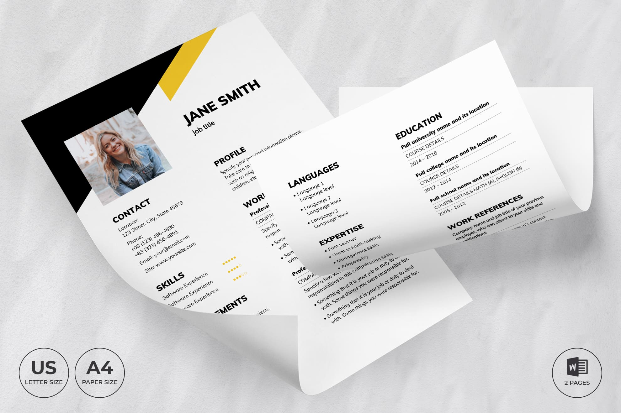 Financial Advisor CV Resume Template.