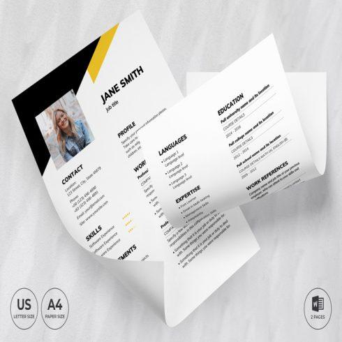 Financial Advisor CV Resume Template main cover.