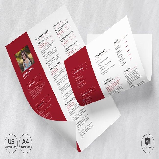 Flower Shop CV Resume Template main cover.