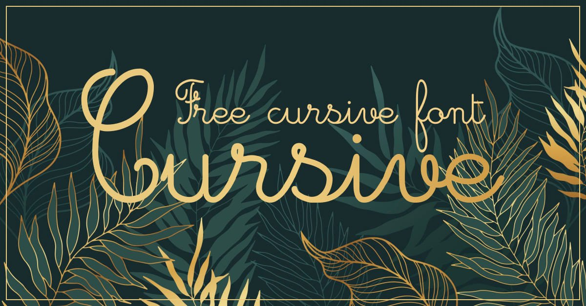 Green background with gold font around leaves.
