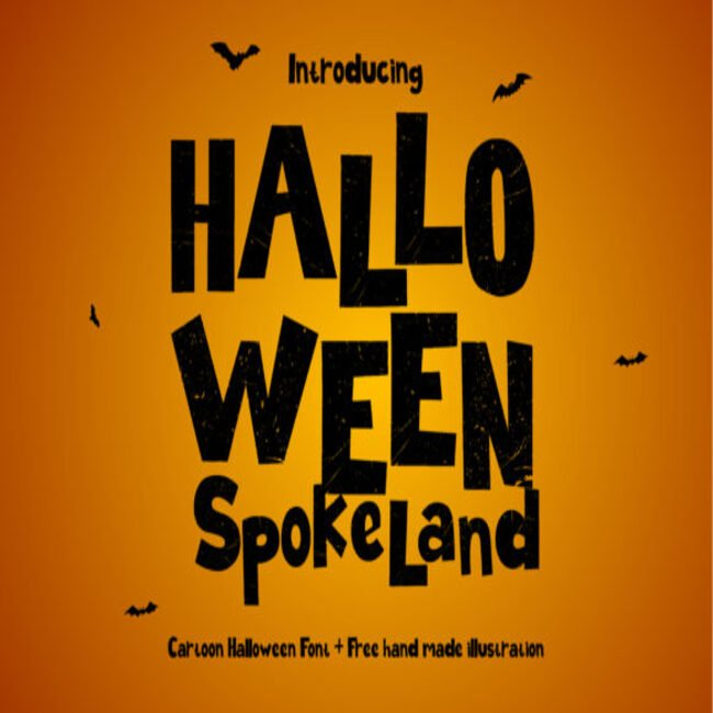 Halloween Spokeland Font main cover.