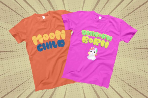 The font has a universal style and will look great both on advertising banners and on children's clothes.