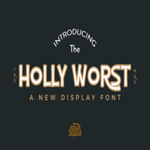 Holly Worst Fonts main cover.