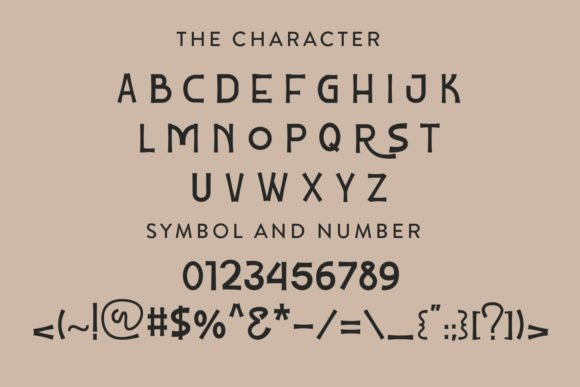 The main features and characteristics of the font.