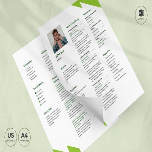 Hostel CV Resume Template main cover.