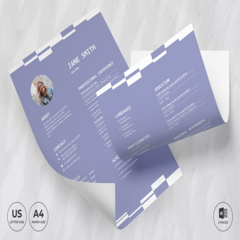 Insurance Agency CV Resume Template main cover.