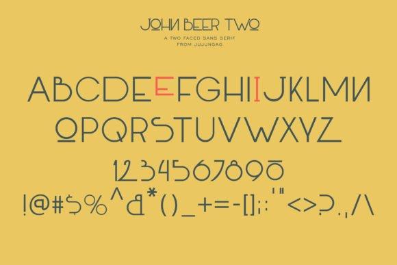 The font has a unique color scheme.