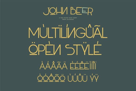 This font can be used in different languages making it versatile.