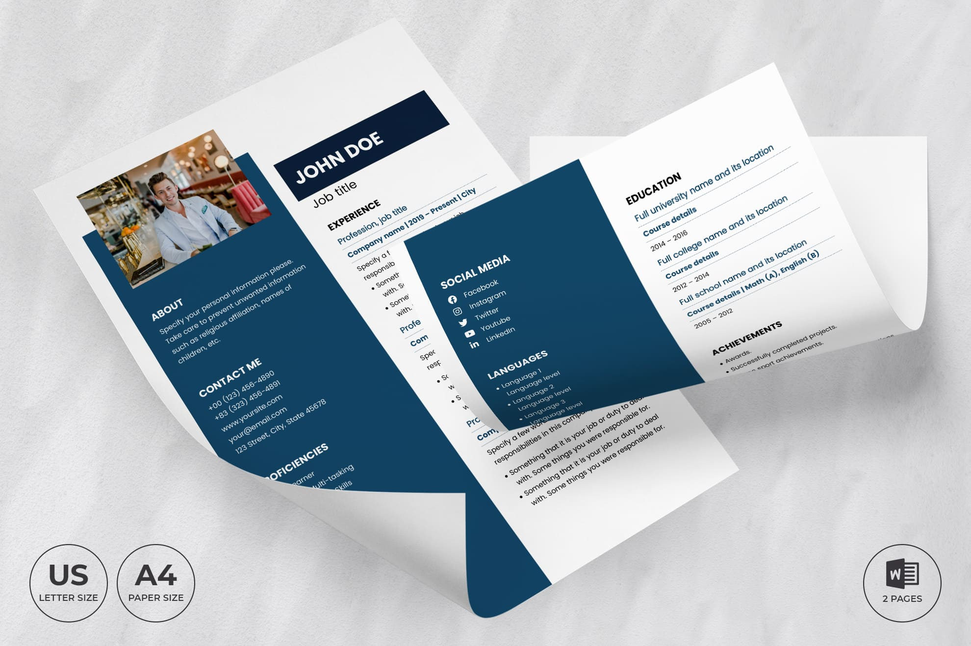 Law Firm CV Resume Template.