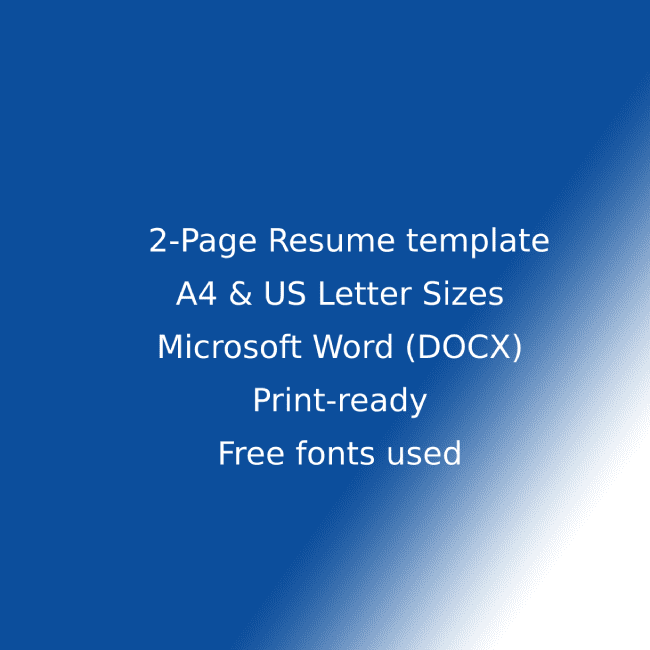 Law Firm CV Resume Template cover image.