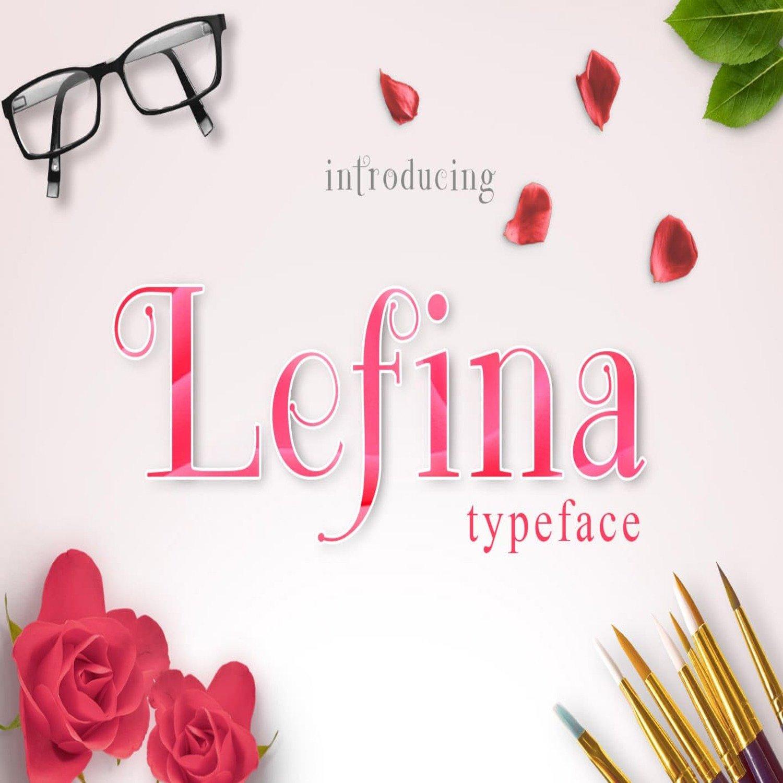 Lefina Typeface main cover.