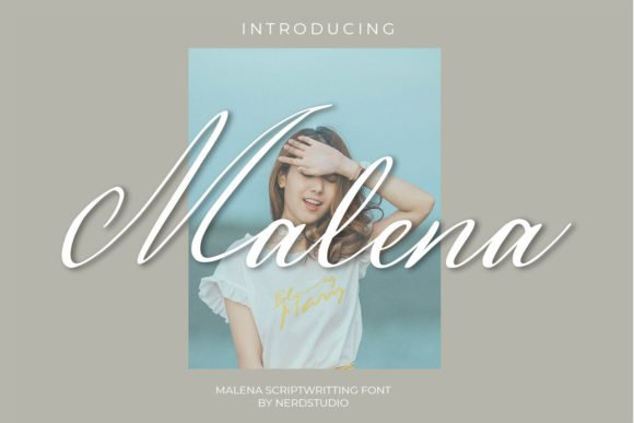 Malena is a tender font for social media or invitations.