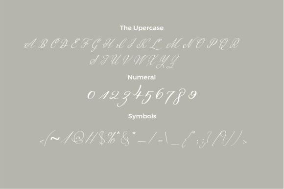 Italic Malena font for romantic cards.